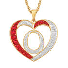 For My Daughter Diamond Initial Heart Pendant 10119 0015 a o initial
