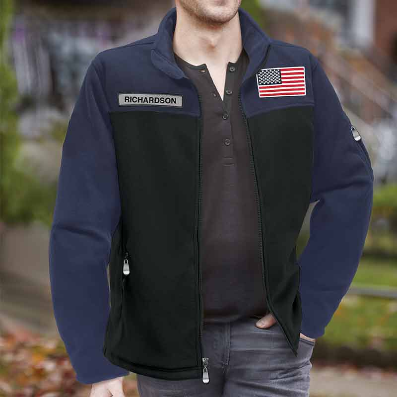 The American Patriot Personalized Fleece Jacket 1733 001 0 3
