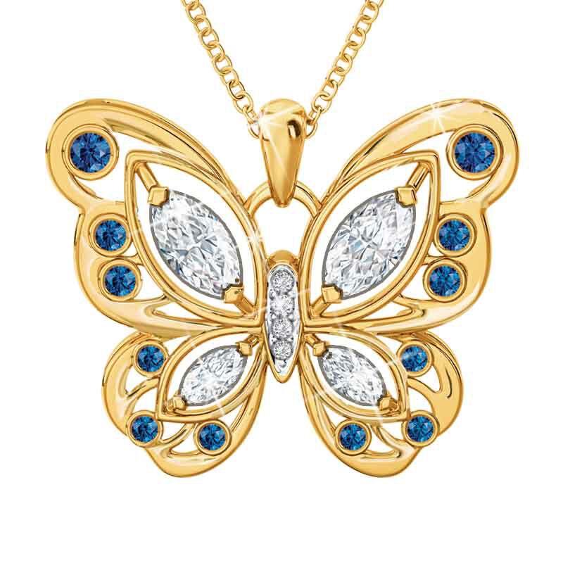 The Birthstone Butterfly Diamond Pendant 2030 001 8 9