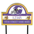 NFL Pride Personalized Address Plaques 5463 0405 a vikings