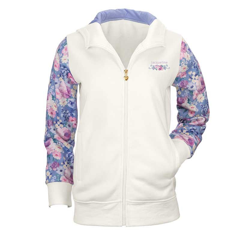Personalized Fabulous Florals Zip Up Hoodie 6689 001 3 1