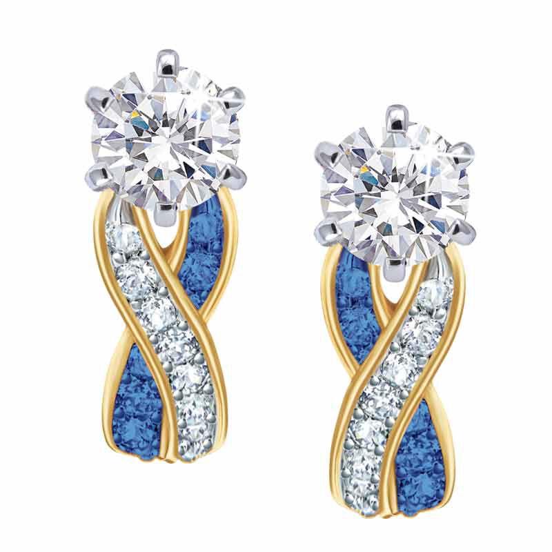 Birthstone Swirl Earrings 5361 014 3 9