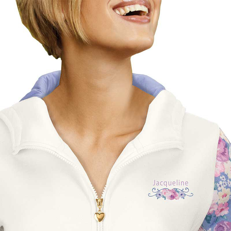 Personalized Fabulous Florals Zip Up Hoodie 6689 001 3 3
