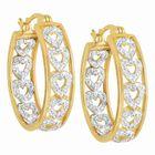 Diamond Hearts Hoop Earrings 1800 001 8 1