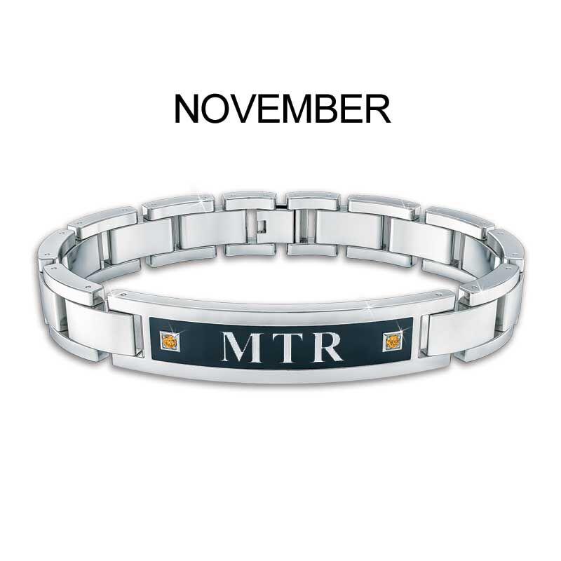 Mens Birthstone ID Bracelet 5824 001 1 12