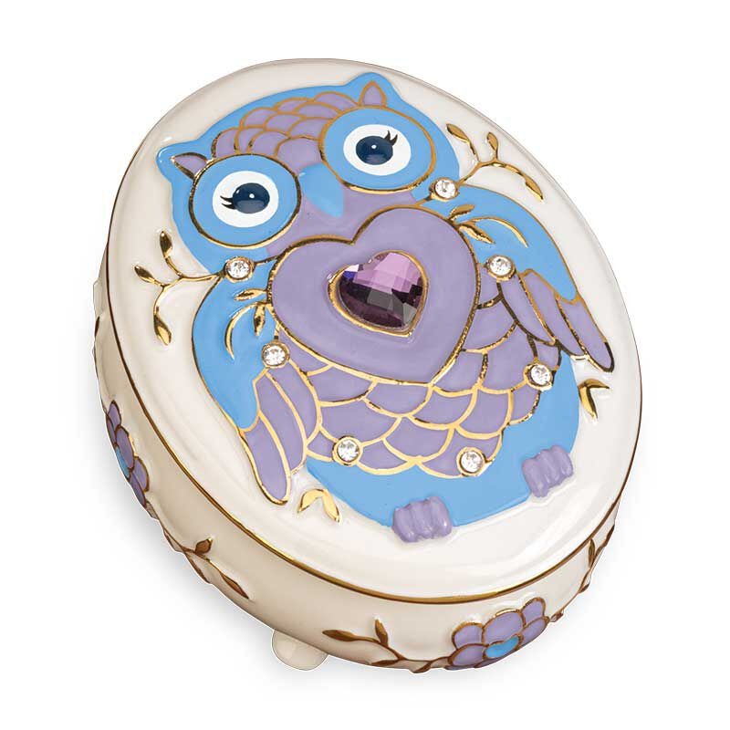 My Granddaughter Never Forget Whooo Loves You Porcelain Jewelry 6441 001 2 1