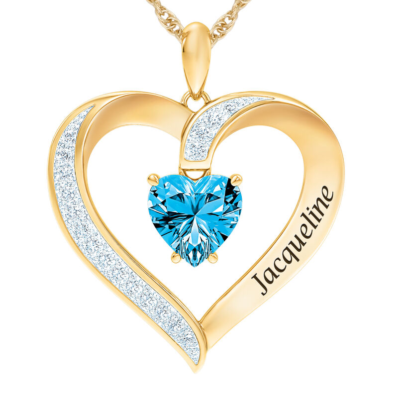 The Birthstone Heart Pendant 6015 0026 l december