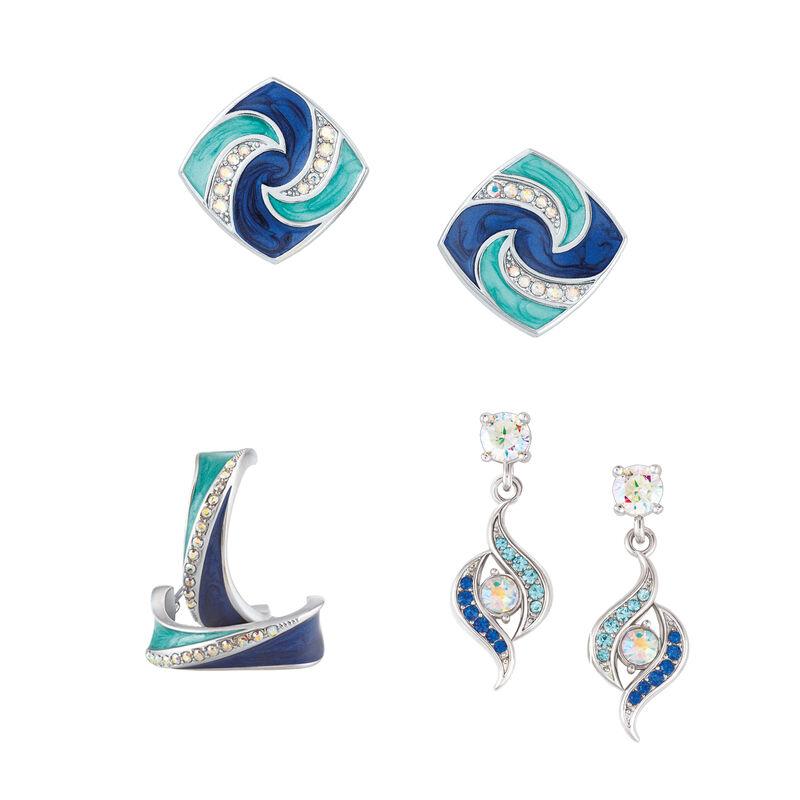Blue Wave Earring Set 6723 0011 a main