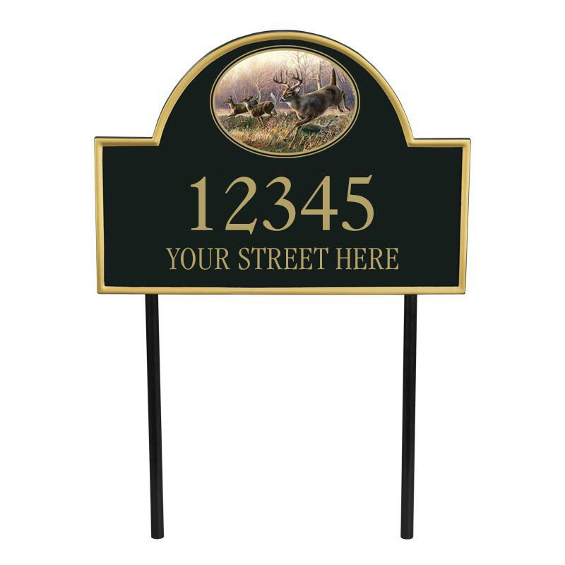 The Trophy Whitetail Address Plaque 1089 001 0 1