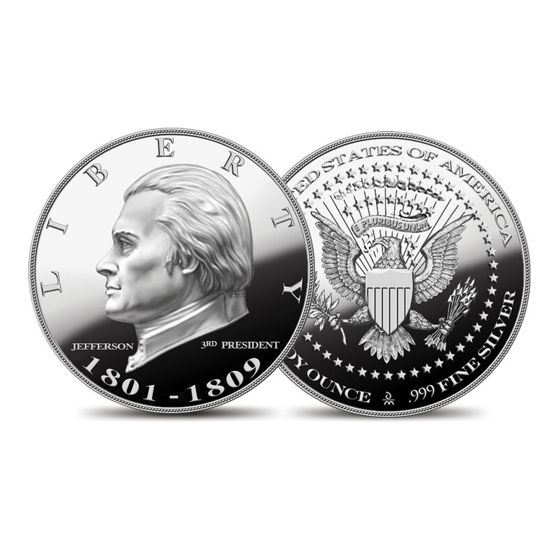 US Presidential Silver Commemoratives 9154 0088 g Jeffersoncommemorative