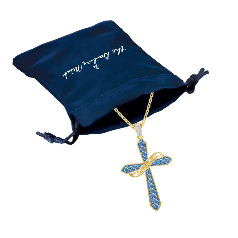 The Birthstone  Diamond Cross Necklace 6787 001 4 13