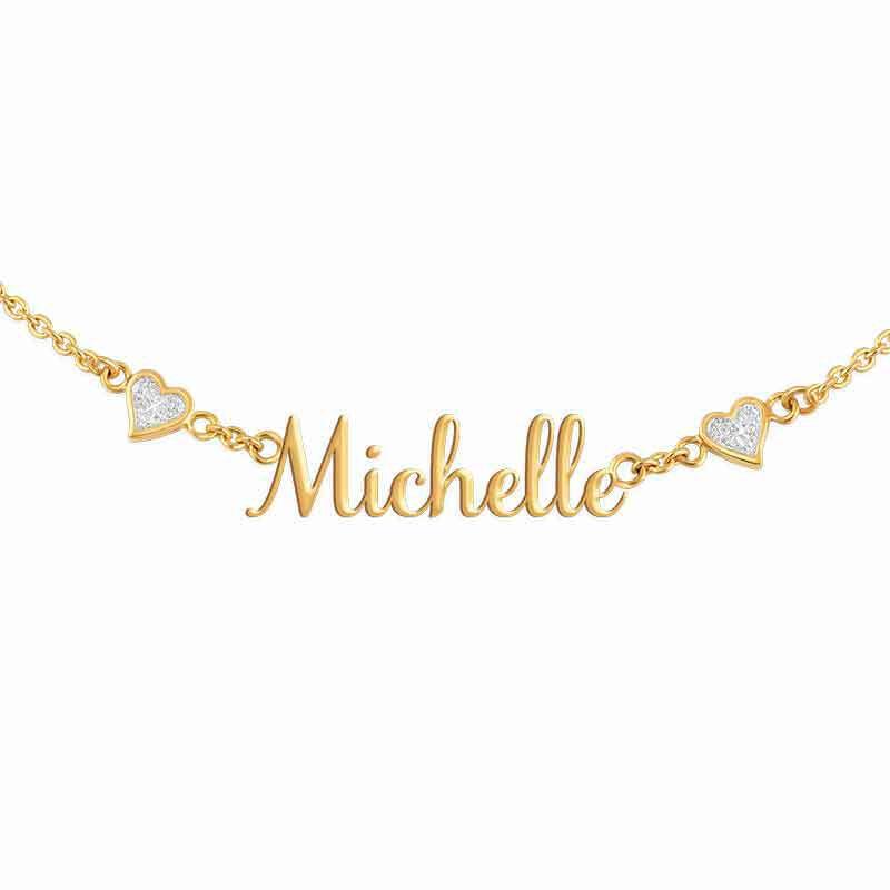 Daughter Signature Diamond Necklace 2222 001 6 5