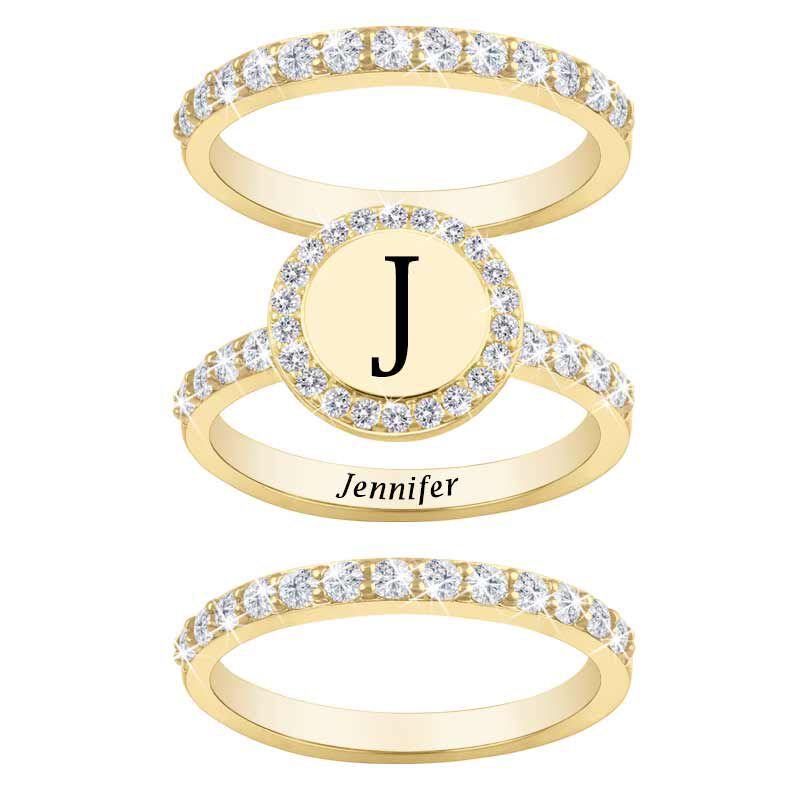 Stackable Initial Ring Set 1412 001 8 2