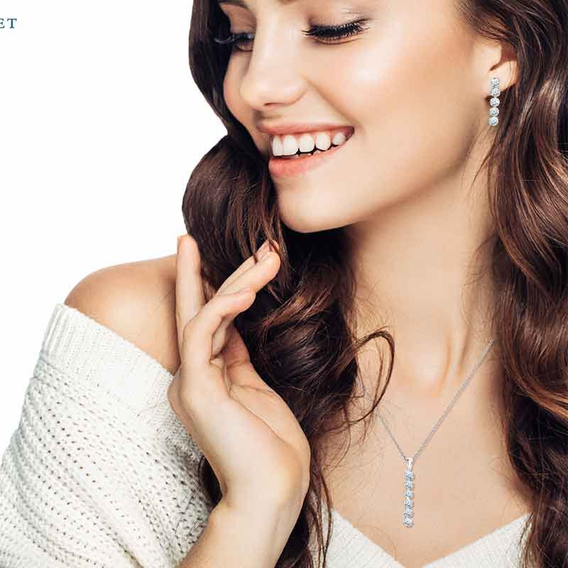 Wondrous Waterfalls Diamonisse Earring and Pendant Set 0839 003 1 5