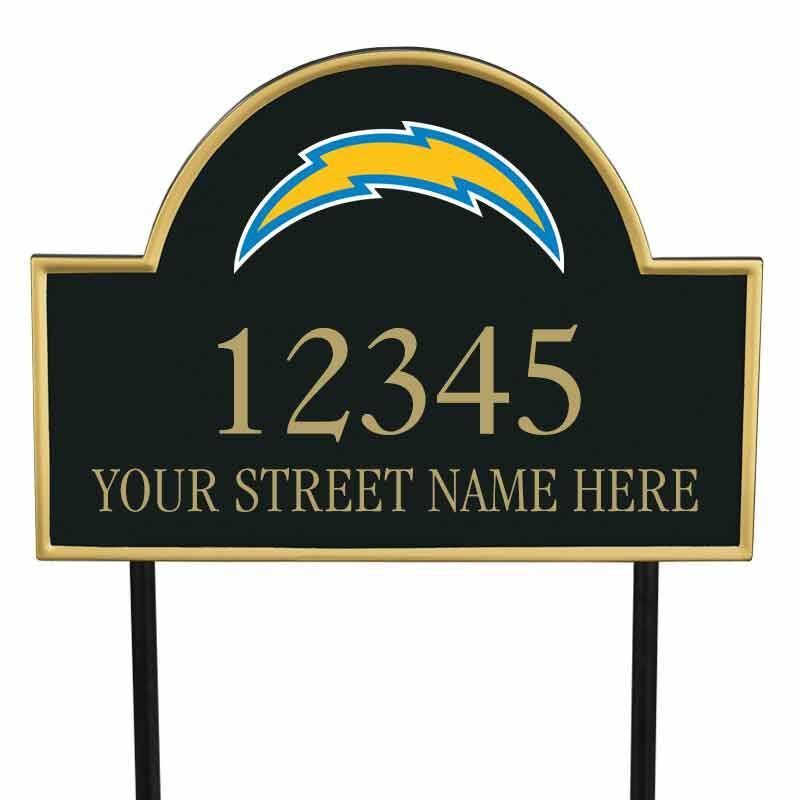 The NFL Personalized Address Plaque 5463 0355 i chargers