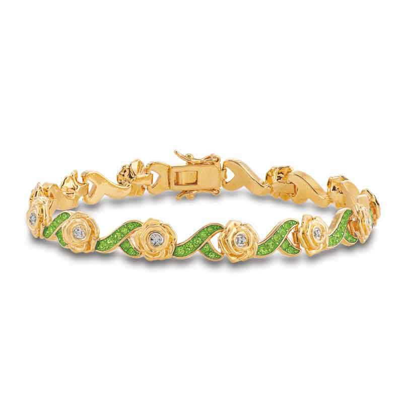 A Dozen Roses Birthstone  Diamond Bracelet 6684 001 8 3