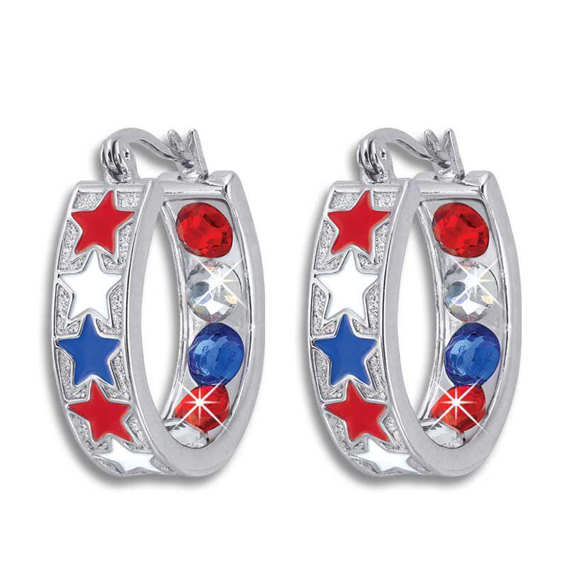 Crystal Celebrations Hoop Earrings 4608 002 4 12