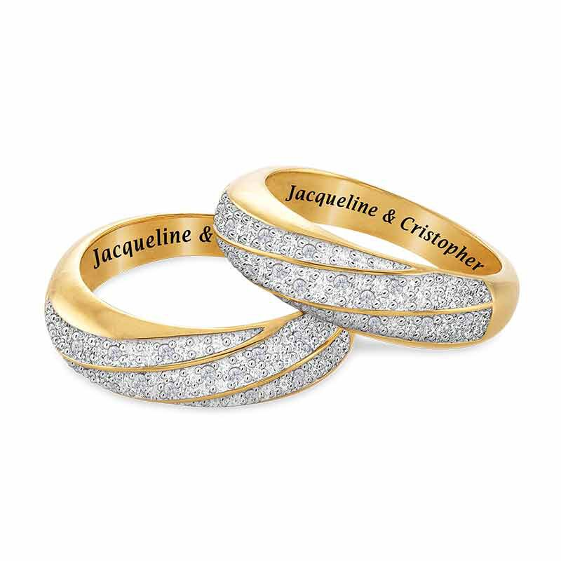 Personalized Diamond Ring Set 6589 001 4 1