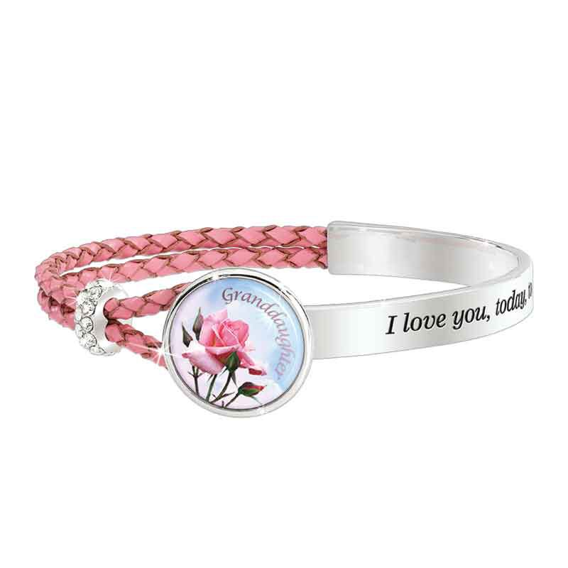 Today Tomorrow Forever Granddaughter Leather Bracelet 6258 001 4 1