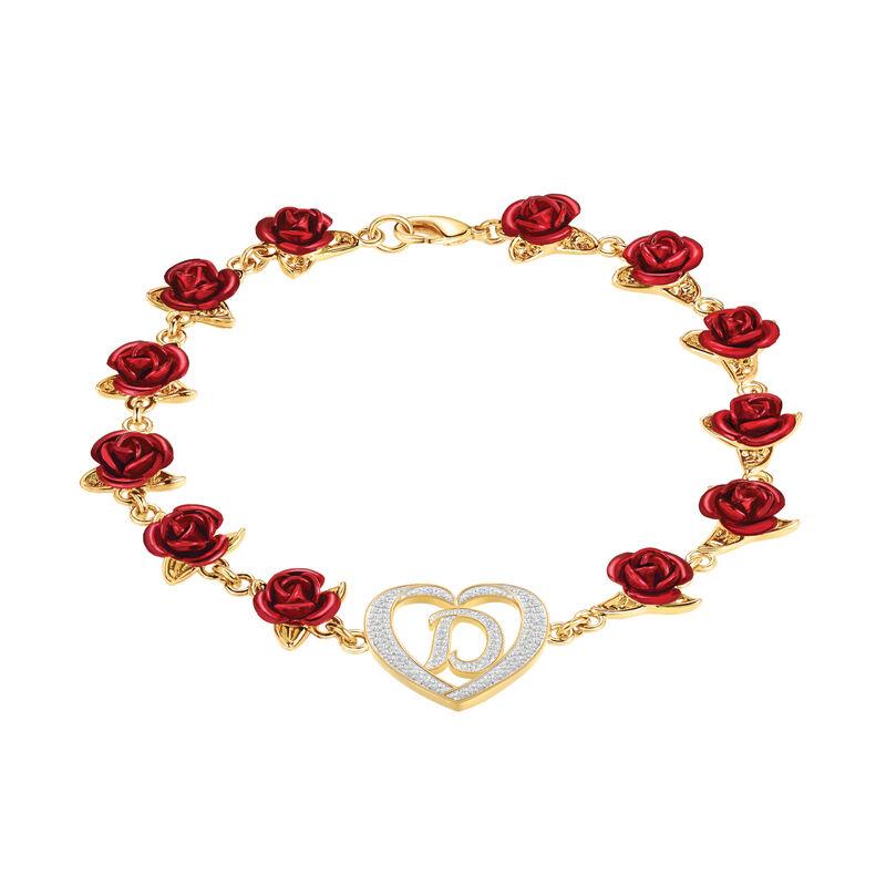 A Dozen Roses Initial Bracelet 10212 0011 a main