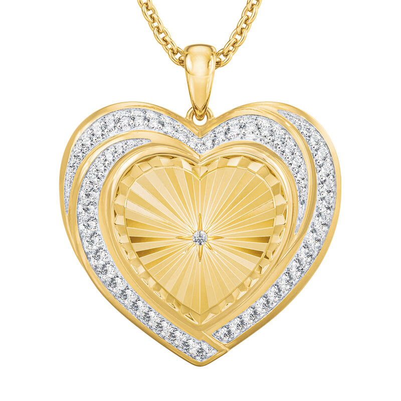 Heart of Our Family Diamond Pendant 10177 0014 b front