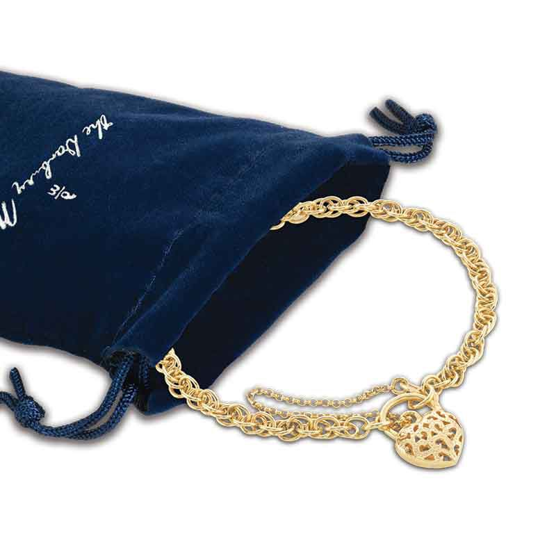 Lock of Love 14kt GoldAura Bracelet 6352 001 9 3