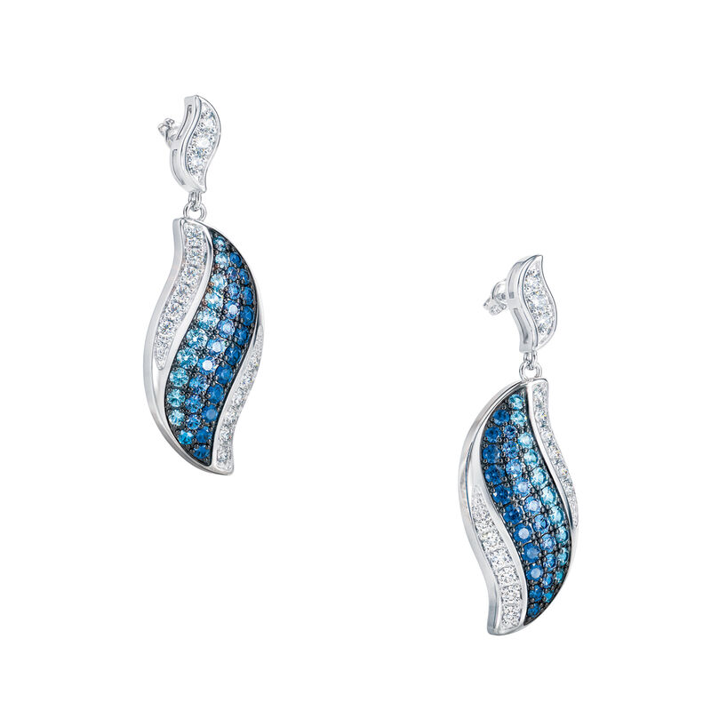 Blue Wave Pendant and Earring Set 6580 0013 c earrings