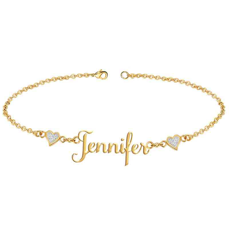 Personalized Diamond Name Bracelet 1698 007 0 1