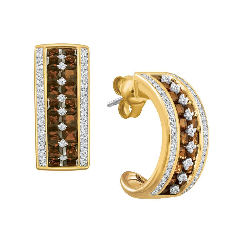 Mocha Desire Pendant Earring Set 6730 0012 c earrings