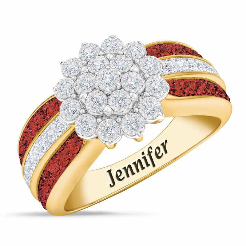 Personalized Birthstone Radiance Ring 5687 003 3 1