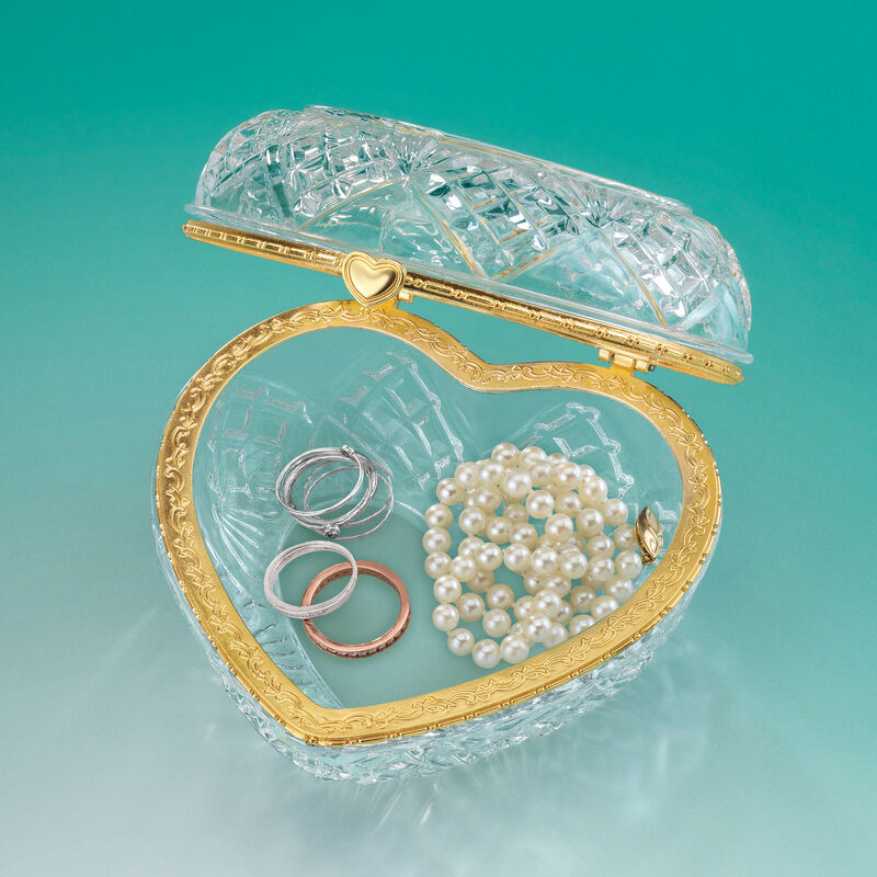 Always My Daughter Crystal Jewelry Box 6940 0018 c open jewelry