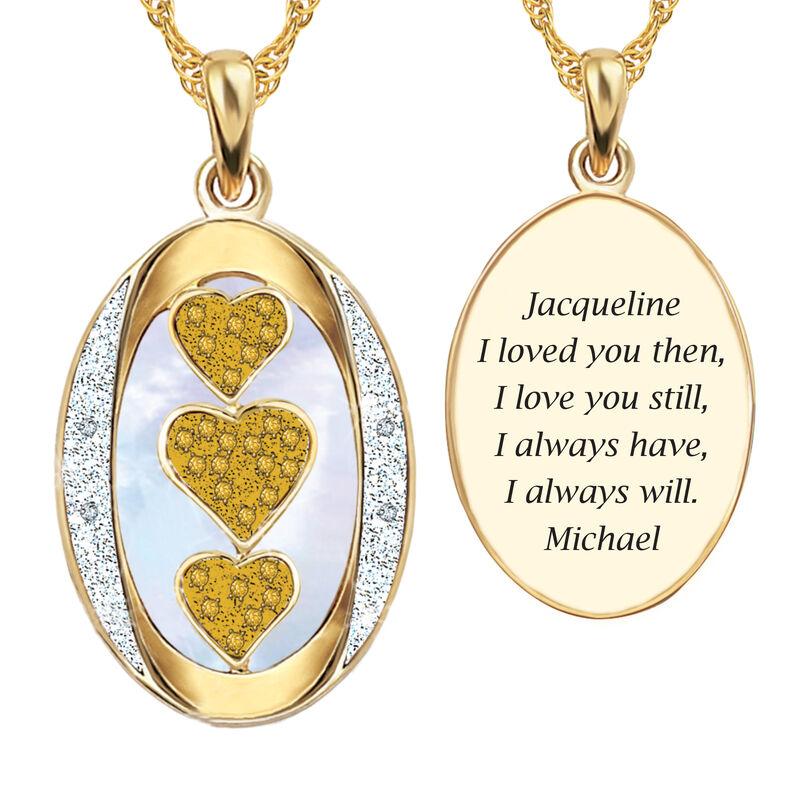 I Love You Custom Birthstone and Diamond Pendant 10702 0018 k november