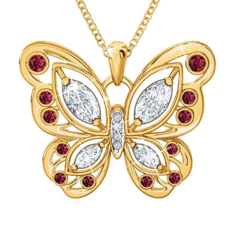 The Birthstone Butterfly Diamond Pendant 2030 001 8 1