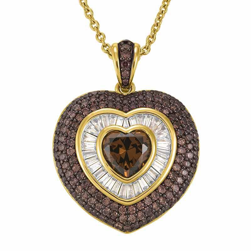 My Sweet Love Mocha Heart Pendant 6410 001 9 1
