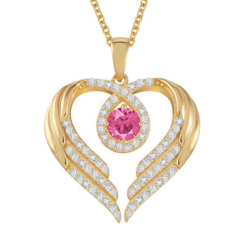 Birthstone Pendant Angel Heart Wing 6721 0013 k october