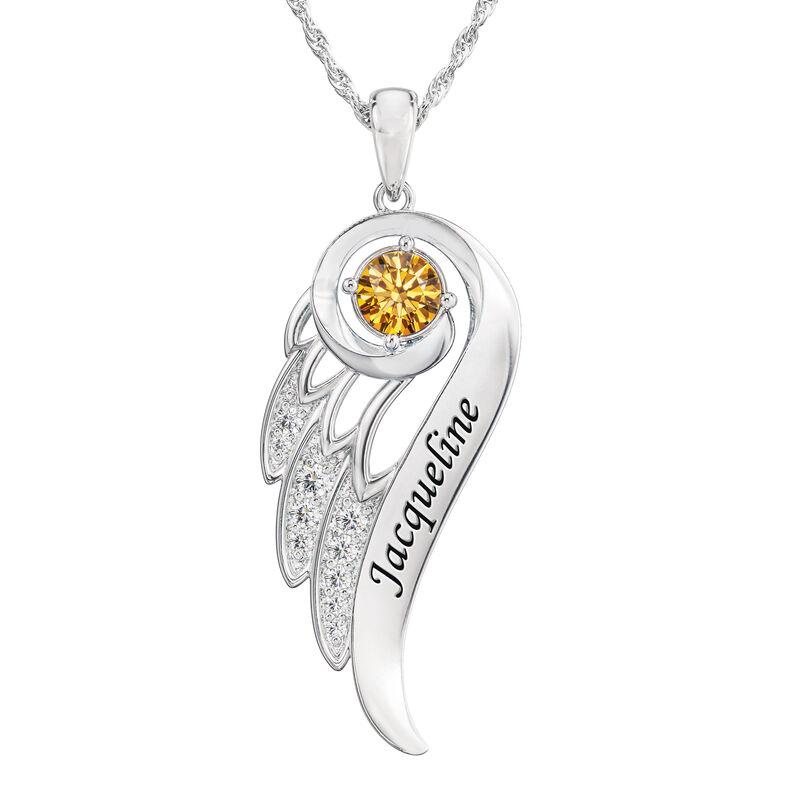 Birthstone Angel Wing Pendant 6893 0015 k november