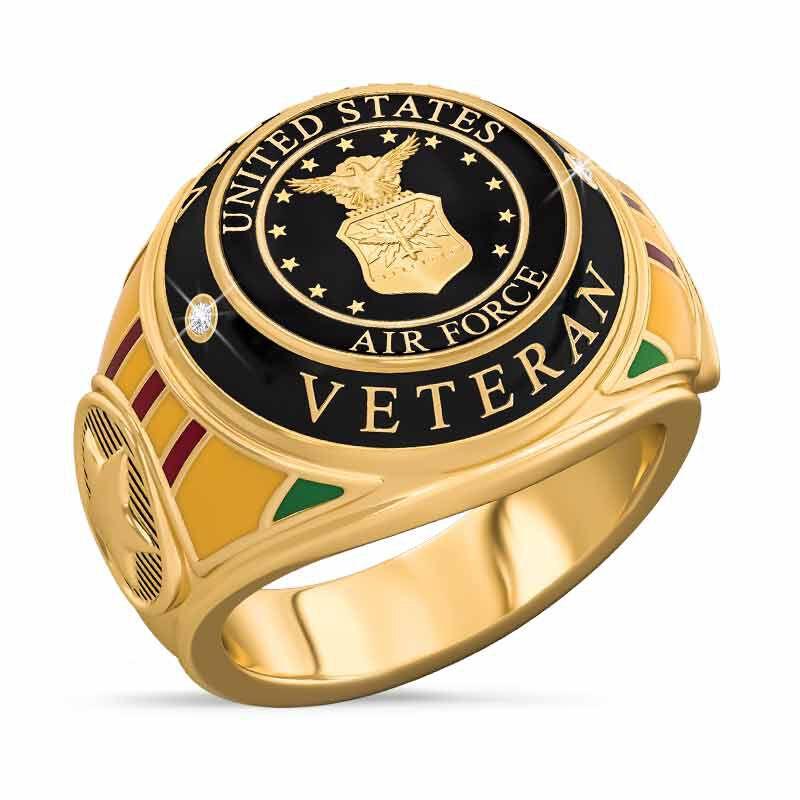 US Air Force Veteran Ring 1861 004 8 1