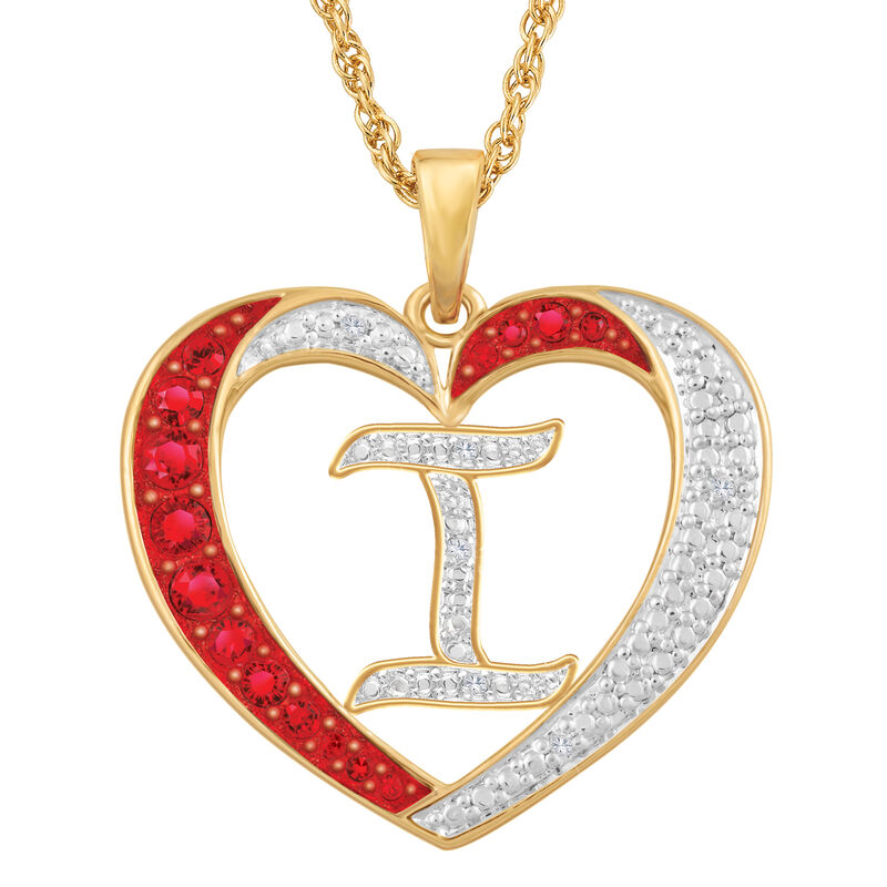 Personalized Diamond Initial Heart Pendant with FREE Poem Card 2300 0060 i initial