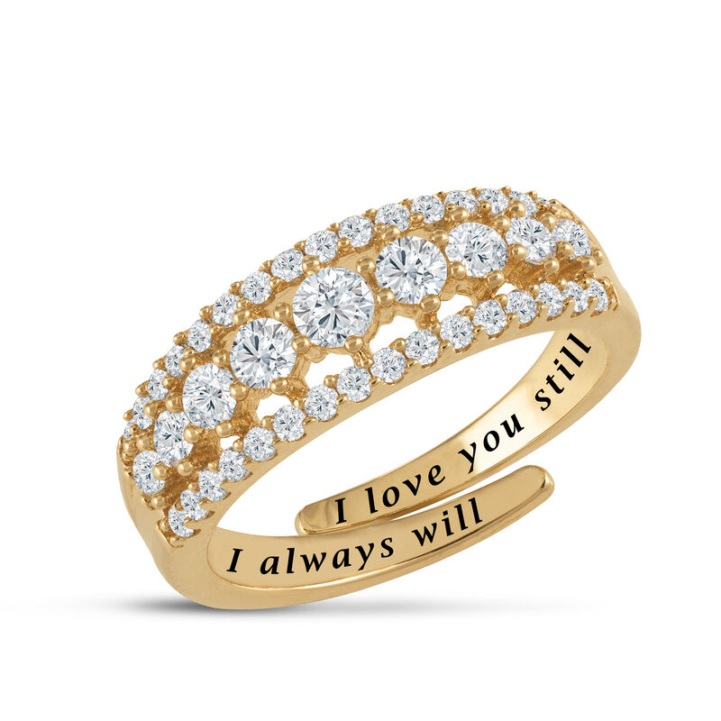 Our Love is Forever Diamonisse Adjustable Ring 6987 0012 a main
