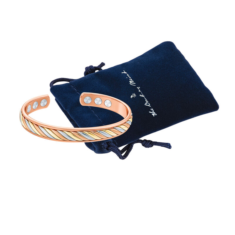 Strong Beautiful Loved Daughter Copper Bangle 10173 0018 g gift pouch