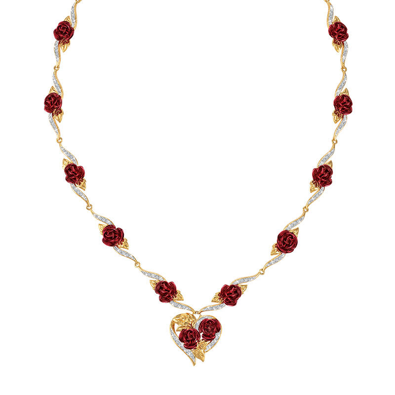 A Dozen Roses Heart Necklace 6308 001 4 1
