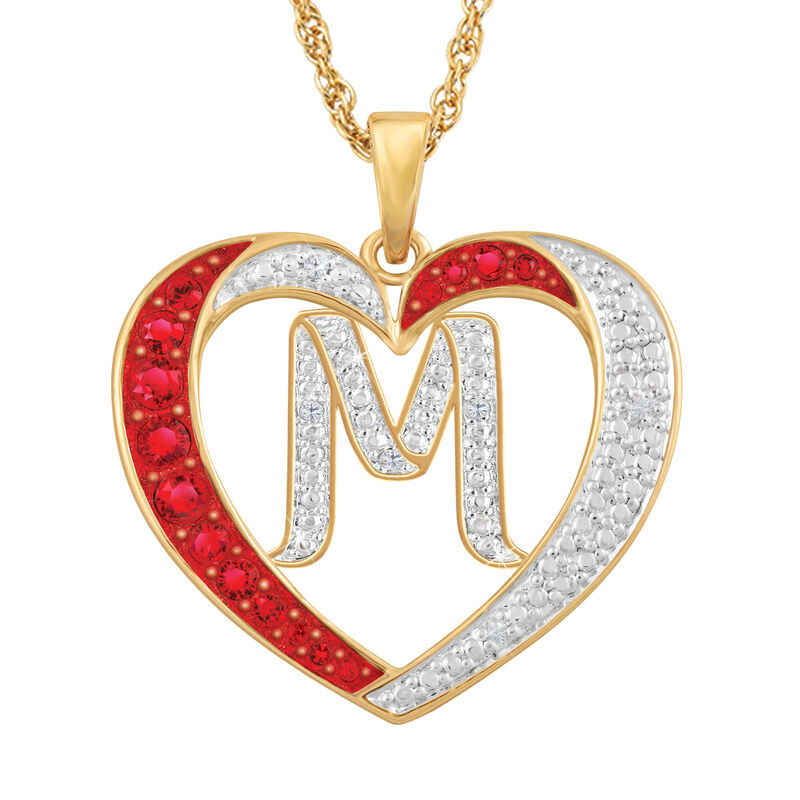 For My Daughter Diamond Initial Heart Pendant 10119 0015 a m initial