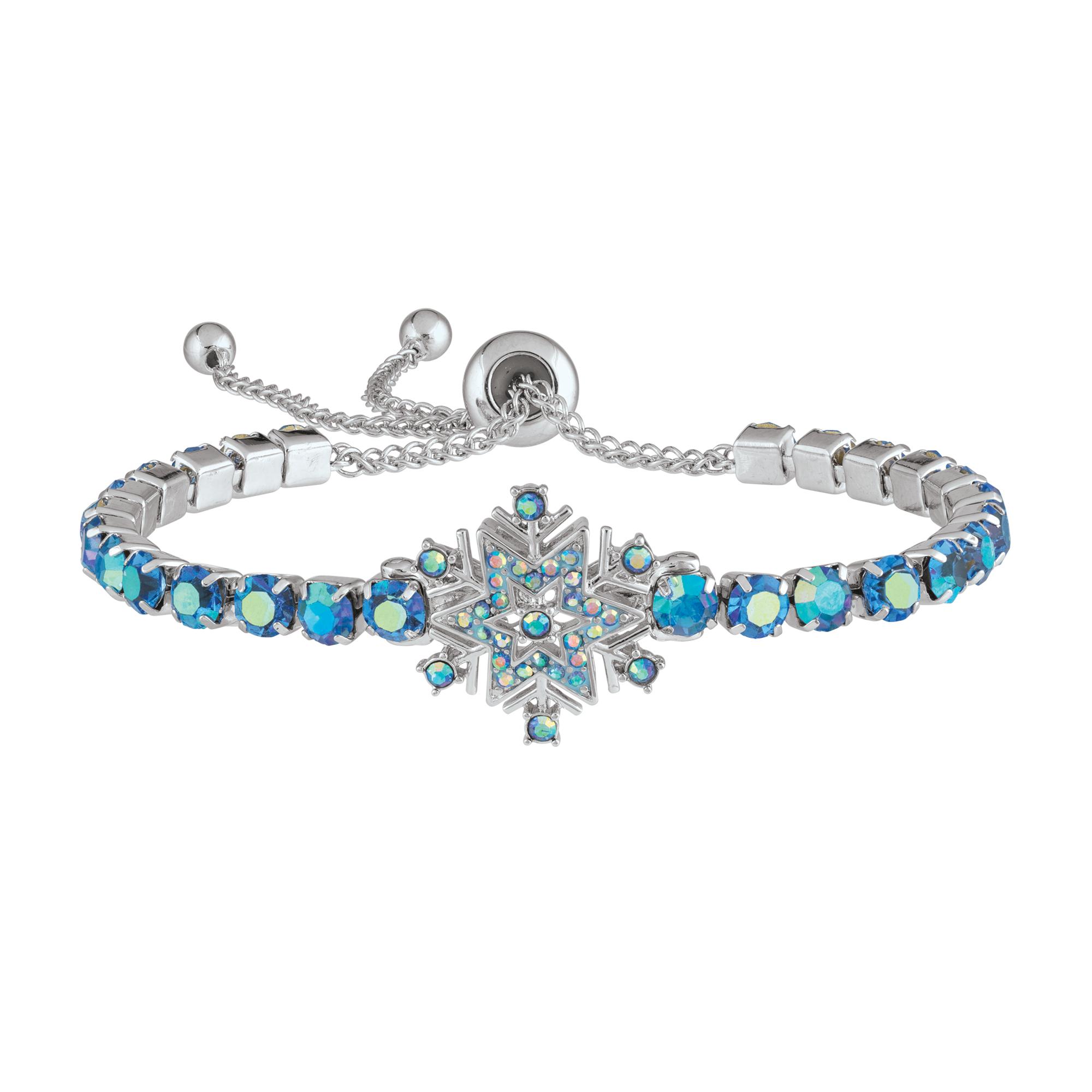 March Birthstone Bracelet Aquamarine Bracelet Blue Bracelet Tennis Bracelet Crystal Bracelet Christmas Gift for Her